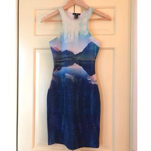 Blue Midi Bodycon H&M Dress